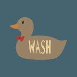 Duck Family Boy Wash Schilderij van  Color Me Happy