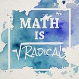 Math Is Radical Watercolor Splash Blue Pôsters por  Color Me Happy