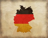 Map with Flag Overlay Germany Pôsters por  Color Me Happy