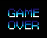 Game Over - Blue Láminas por  Color Me Happy