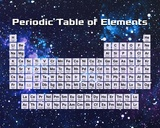 Periodic Table Of Elements Space Theme Kunstdruck von  Color Me Happy