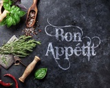 Bon Appetit Herbs and Spices Poster von  Color Me Happy
