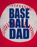 Baseball Dad In Red Affiches par  Sports Mania