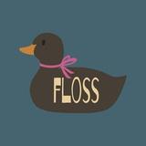 Duck Family Girl Floss Kunst van  Color Me Happy