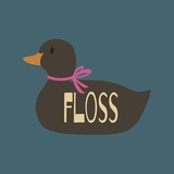 Duck Family Girl Floss Poster di  Color Me Happy