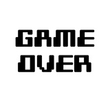 Game Over - White Láminas por  Color Me Happy