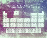 Periodic Table Purple Grunge Background Poster by  Color Me Happy