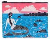 Mermaid Zipper Pouch Toalettmappe med glidelås