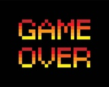 Game Over - Red Posters por  Color Me Happy