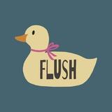 Duck Family Girl Flush Poster por  Color Me Happy