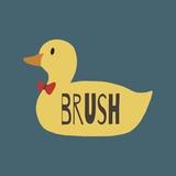 Duck Family Boy Brush Poster di  Color Me Happy