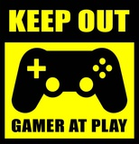 Keep Out Gamers At Play Pôsteres por  Color Me Happy