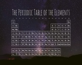 The Periodic Table Of The Elements Night Sky Purple Poster von  Color Me Happy