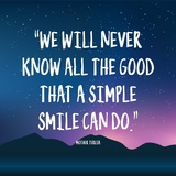 Simple Smile - Mother Teresa Quote (Dusk) Prints by  Quote Master
