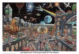 Echoes From The Darkside Of The Moon - Tom Masse Print