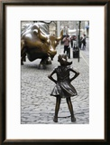 Fearless Girl Wall Street Framed Photographic Print