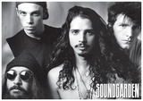 Soundgarden - B/W Group w/ Chris Cornel Kunstdrucke