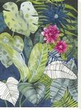 Leafy Jungle Bedruckte aufgespannte Leinwand von Sandra Jacobs
