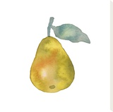 Pear Drop Stretched Canvas Print by Kristine Hegre