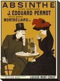 Absinthe. Liqueur Mont-Christ Pingotettu canvasvedos tekijänä Leonetto Cappiello