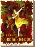 Liquer Cordial-Médoc, G. A. Jourde - Bordeaux Pingotettu canvasvedos tekijänä Leonetto Cappiello