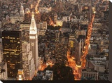 Aerial view of Manhattan with Flatiron Building, NYC Stretched Canvas Print by Michel Setboun