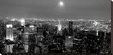 Aerial view of Manhattan, NYC Stretched Canvas Print by Michel Setboun