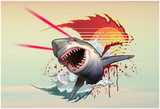 Vicious Laser Shark Posters