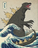 The Great Monster off Kanagawa Pôsters por Michael Buxton