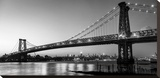 Queensboro Bridge and Manhattan from Brooklyn, NYC Stretched Canvas Print by Michel Setboun