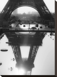The Eiffel tower reflected, Paris Stretched Canvas Print by Michel Setboun