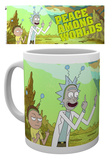 "Rick & Morty - Mug ""Peace"" (pace nel mondo) Tazza"