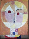 Senecio (detail) Stretched Canvas Print by Paul Klee