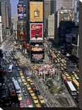 Traffic in Times Square, NYC Stretched Canvas Print by Michel Setboun