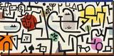 Rich Harbour (detail) Trykk på strukket lerret av Paul Klee