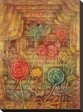 Spiral Flowers Bedruckte aufgespannte Leinwand von Paul Klee