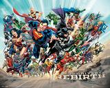 Dc Universe Rebirth Plakat