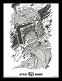 Star Wars 40 Aniversario - Boba Fett Lámina de coleccionista