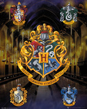 Brasões das casas de Harry Potter Fotografia