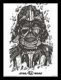 Star Wars 40th Anniversary - Darth Vader Collector Print