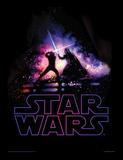 Star Wars, La Guerre des Étoiles - Combat singulier Reproduction encadrée pour collectionneurs