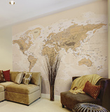 Sepia World Wall Mural Wall Mural