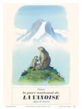 Parc National de La Vanoise, Savoie, Alpes (Affiche touristique vintage) Affiches par  Samivel