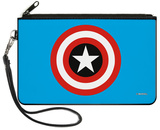 Captain America - Shield Blue Canvas Zipper Wallet Wallet