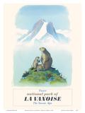 Parc National de La Vanoise, Savoie, Alpes (Affiche touristique vintage, Marmottes) Affiches par  Samivel