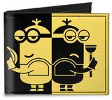 Despicable Me 3 - Spy v. Villain Minions Silhouette Canvas Wallet Wallet