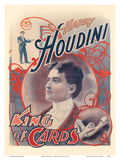 Harry Houdini - King of cards (el rey de las cartas) Láminas por  Pacifica Island Art