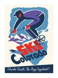 Ski Colorado - Colorado Climate... The Magic Ingredient - Downhill Skier Premium Giclee Print by  Pacifica Island Art