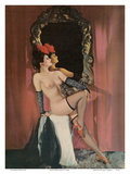 Burlesque Beauty - Stocking Clad Showgirl Posters by  Pacifica Island Art