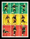 Bob Marley - Football (Affiche, Rasta, Reggae, Musique, Sport) Reproduction encadrée pour collectionneurs